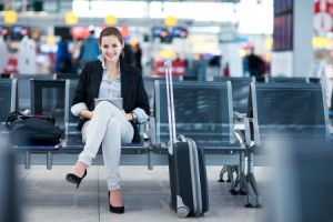 Woman travelling - airport