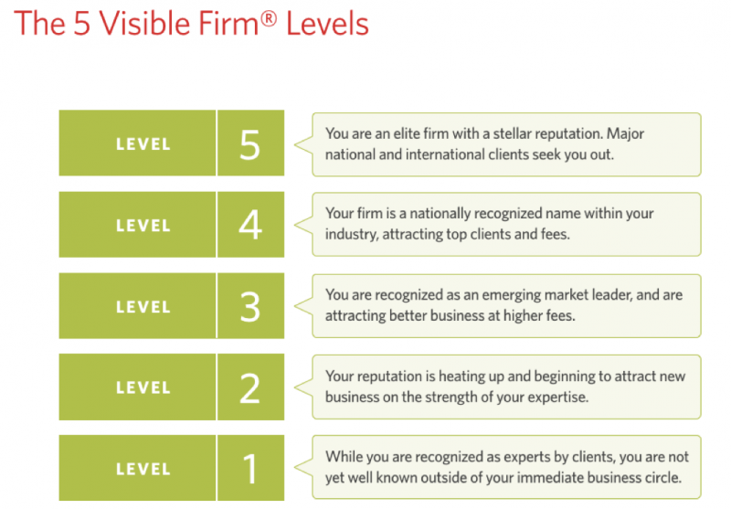 The 5 visible firm levels